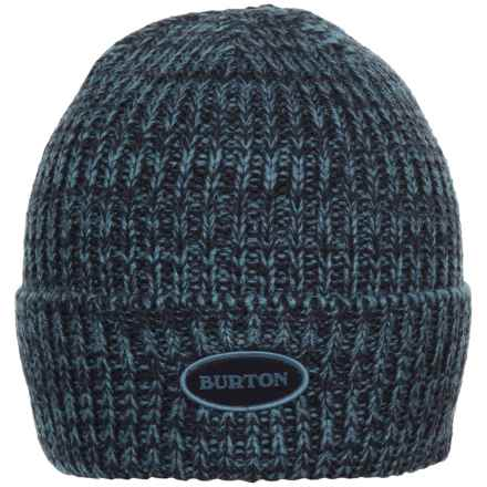 Burton Angus Beanie (For Men) in Eclipse/Washed Blue - Closeouts