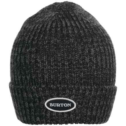 Burton Angus Beanie (For Men) in True Black/Faded - Closeouts