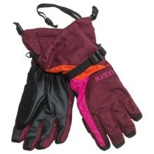 Burton Approach Gloves - Waterproof, Removable Liner, Touch-Screen Compatible (For Women) in Sangria Colorblock - Closeouts