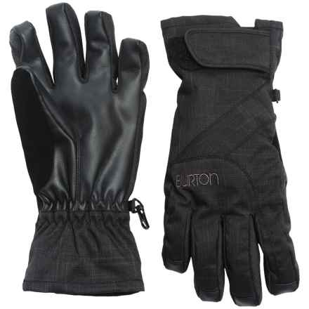Burton Approach Under Gloves - Waterproof, Touchscreen Compatible (For Women) in True Black - Closeouts