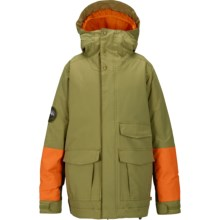 Burton Atlas Snowboard Jacket - Waterproof, Insulated (For Little and Big Boys) in Algae Block - Closeouts