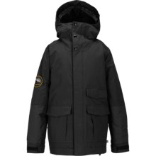 Burton Atlas Snowboard Jacket - Waterproof, Insulated (For Little and Big Boys) in True Black - Closeouts