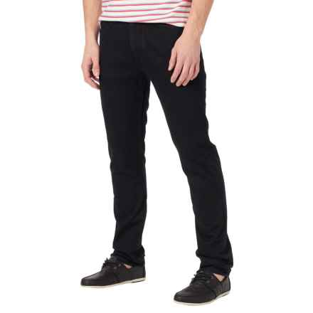 Burton B77 Slim Straight Jeans - Mid Rise (For Men) in True Black - Closeouts