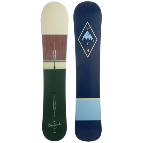 Burton Barracuda Snowboard in 153 Dark Green/Natural/Wood/Dark Blue/Natural