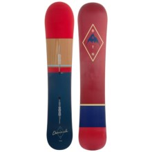 Burton Barracuda Snowboard in 157 Dark Blue/Red/Wood/Red/Natural - 2nds