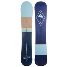Burton Barracuda Snowboard in 161 Dark Blue/Light Blue/Wood/ Dark Blue Natural - 2nds