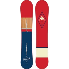 Burton Barracuda Snowboard in 169 Dark Blue/Red/Wood/Red/Dark Blue - 2nds