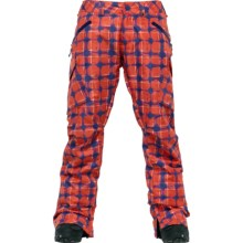 Burton Basis Snow Pants - Waterproof, Recycled Materials (For Women) in Visionary Print - Closeouts