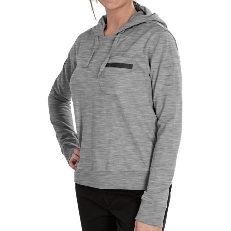 Burton Bearing Pullover Hoodie (For Women) in Heather Grey
