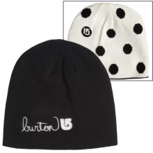 Burton Belle Logo Beanie (For Little and Big Girls) in True Black/Stout White - Closeouts