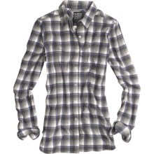 Burton Blitz Flannel Shirt - Snap Front, Long Sleeve (For Women) in Bright White - Closeouts