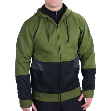 Burton Blocker Bonded Hoodie Sweatshirt (For Men) in Olive/True Black