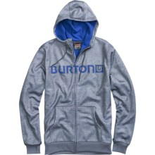 Burton Bonded DRYRIDE Thermex Hoodie Sweatshirt - Full Zip (For Men) in Gray Heather - Closeouts