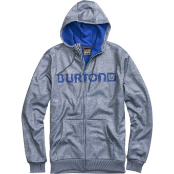 Burton Bonded DRYRIDE Thermex Hoodie Sweatshirt - Full Zip (For Men) in Gray Heather