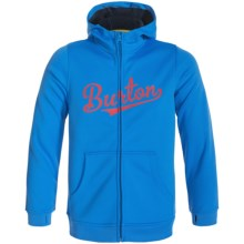 Burton Bonded Fleece Hoodie - Full Zip (For Little and Big Boys) in Lure Blue - Closeouts