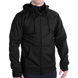Burton Bonded Fleece Hoodie - Full Zip (For Men) in Black Ops