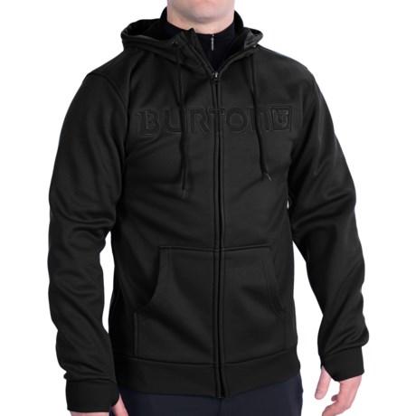 Burton Bonded Fleece Hoodie - Full Zip (For Men) in Ethnic Night Rider