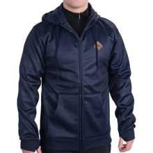 Burton Bonded Fleece Hoodie - Full Zip (For Men) in Ethnic Night Rider - Closeouts