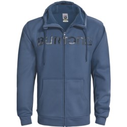 Burton Bonded Hooded Sweatshirt - Full Zip (For Men) in Team Blue/Vandyke Plaid
