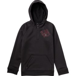 Burton Bonded Hoodie - Zip Neck (For Boys) in True Black