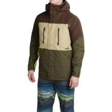 Burton Breach Snowboard Jacket - Waterproof, Insulated (For Men) in Mocha Block - Closeouts