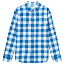 Burton Brighton Flannel Shirt - Long Sleeve (For Boys) in Cobalt Blue - Closeouts