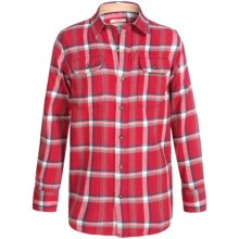 Burton Brighton Plaid Flannel Shirt - Long Sleeve (For Little and Big Boys) in Chili Pepper Utica - Closeouts
