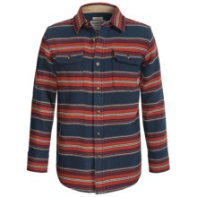 Burton Brighton Plaid Flannel Shirt - Long Sleeve (For Little and Big Boys) in Dress Blues Kingdom - Closeouts