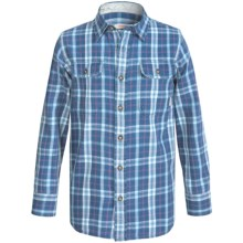 Burton Brighton Plaid Flannel Shirt - Long Sleeve (For Little and Big Boys) in Stillwater Townie - Closeouts