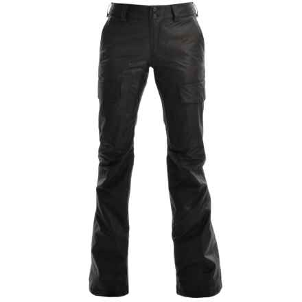 Burton Brink Gore-Tex® Snowboard Pants - Waterproof, Insulated (For Women) in True Black Leather Emboss - Closeouts