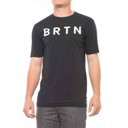 Burton Brtn T-Shirt - Short Sleeve (For Men) in True Black - Closeouts