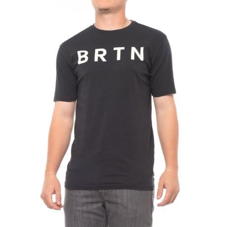 Burton Brtn T-Shirt - Short Sleeve (For Men) in True Black