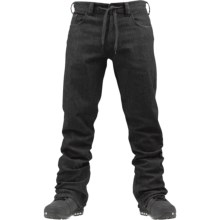 Burton Burner Denim Snowboard Pants - Waterproof (For Men) in Black Wash - Closeouts