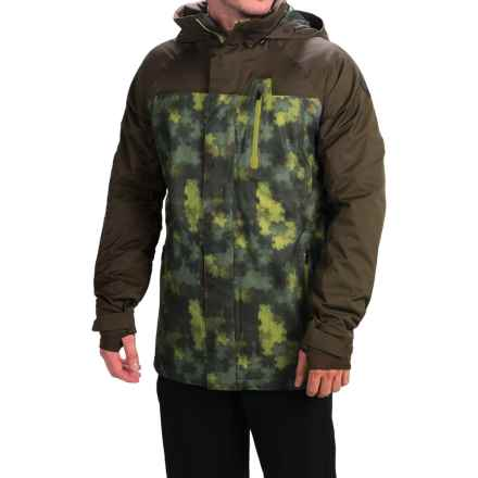 Burton Caliber Snowboard Jacket - Waterproof (For Men) in Saw Camo/Mocha Block - Closeouts