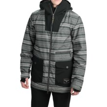 Burton Cambridge Snowboard Jacket - Waterproof, Insulated (For Men) in Yarny/True Black - Closeouts