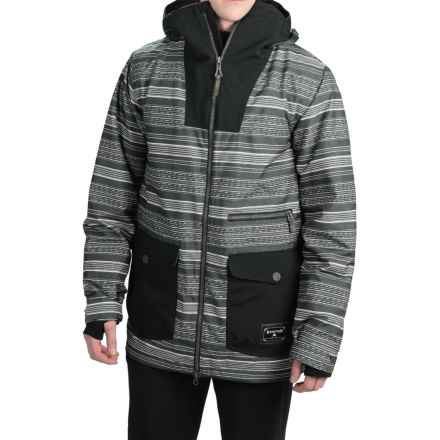Burton Cambridge Snowboard Jacket - Waterproof, Insulated (For Men) in Yarny/True Black - Closeouts