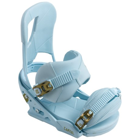 Burton Cartel Snowboard Bindings in Sky/Earth