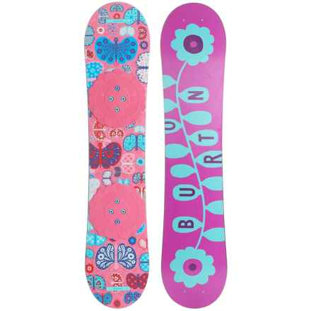 Burton Chicklet Snowboard (For Big Girls) in Chicklet Pink/Pink - Closeouts
