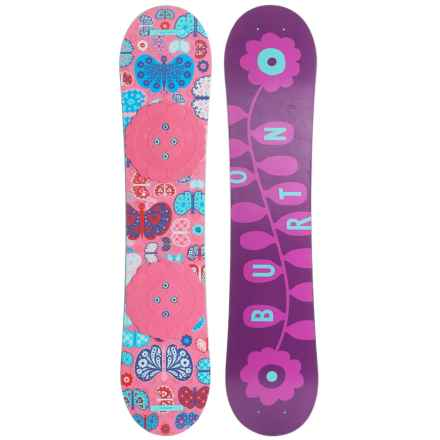 Burton Chicklet Snowboard (For Big Girls) in Chicklet Pink/Purple - Closeouts