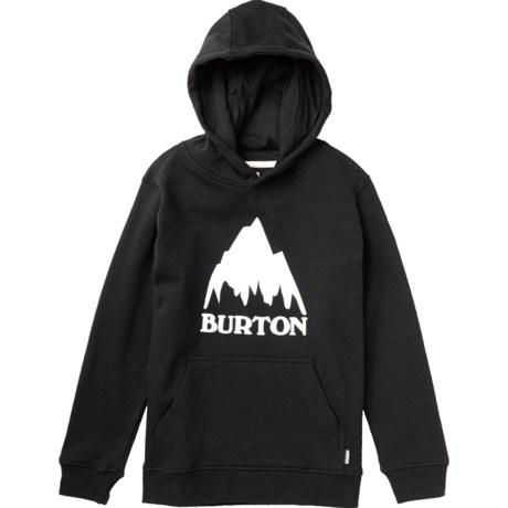 Burton Classic Mountain Hoodie (For Boys) in True Black