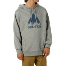 Burton Classic Mountain Pullover Hoodie (For Men) in Gray Heather - Closeouts