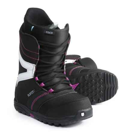 Burton Coco Snowboard Boots (For Women) in Black/Purple - Closeouts