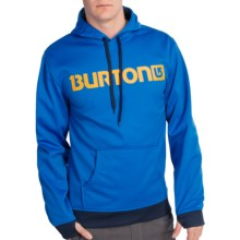 Burton Crown Bonded Fleece Hoodie Sweatshirt - Pullover (For Men) in Cyanide - Closeouts