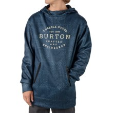 Burton Crown Bonded Fleece Hoodie Sweatshirt - Pullover (For Men) in Shiburi Small - Closeouts