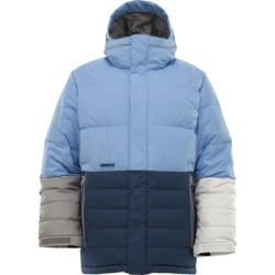 Burton Cushing Down Jacket - 550 Fill Power (For Men) in Blue Color Block