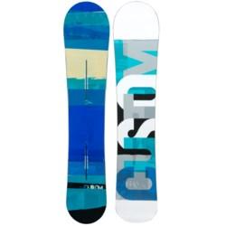 Burton Custom Flying V Snowboard - Wide in 158W Graphic/Turquoise Bottom
