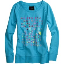 Burton Custom Marchant Sweatshirt - Crew Neck (For Women) in Avatar - Closeouts
