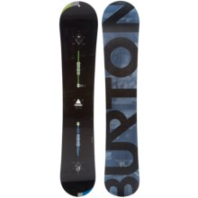 Burton Custom Mystery Snowboard in Black W/Black Burton/Bluegrey - 2nds