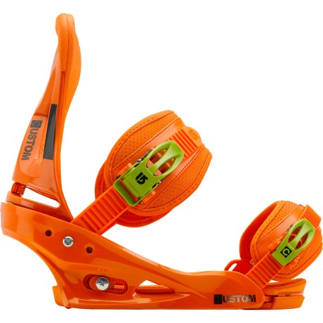 Burton Custom Snowboard Bindings in Orange