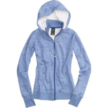 Burton Dawn Fleece Hoodie Sweatshirt - Full Zip (For Women) in Heron Blue Heather - Closeouts